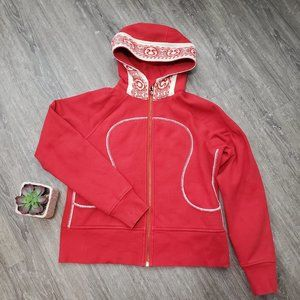 Lululemon Special Edition Remix Hoodie Red Sz 12